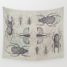 Vintage Beetles And Bugs Wall Tapestry