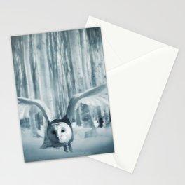 Snowy Owl In Flight Stationery Cards