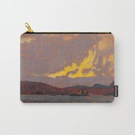 Tom Thomson - Canoe Lake, Algonquin Park  - Canada, Canadian Oil Painting - Group of Seven Carry-All Pouch