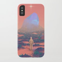 Lost Astronaut Series #02 - Giant Crystal iPhone Case