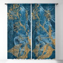 Teal Garden In Autumn Blackout Curtain