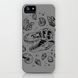 Geo-rex Vortex | Black iPhone Case