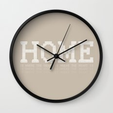 HOME is where the heart is 0.2 Wall Clock