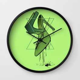 Green High heels Wall Clock