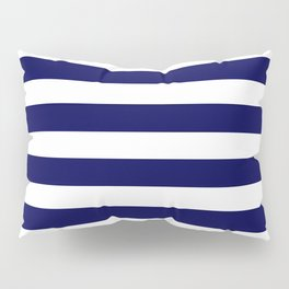 Navy Blue & White Stripes- Mix & Match with Simplicity of Life Pillow Sham
