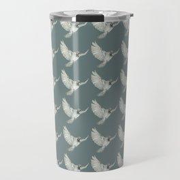 Pattern: Sparrow on blue-grey Travel Mug