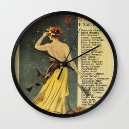 Rome by Emile Zola Wall Clock