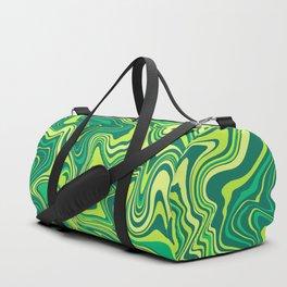 Liquid Green Agate Slice Duffle Bag