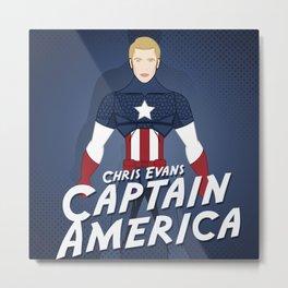 Heroes Unmasked Series: Capt. America Metal Print