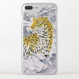 Amur Leopard Clear iPhone Case
