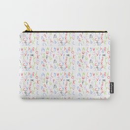 Alphabet 4 -letter,child,language,Abecedarium,abc,abcdefg, symbols,,script,write,writing, Carry-All Pouch