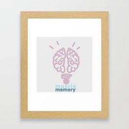 Muscle memory Framed Art Print