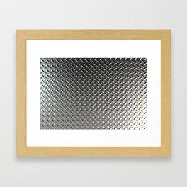 Dirty checkered steel plate Framed Art Print
