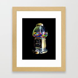 Gum Ball Machine Framed Art Print