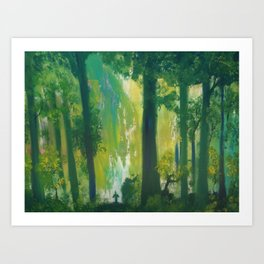 Lost Woods Art Print