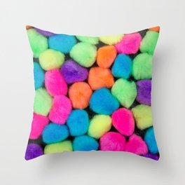 Fuzzy Things Throw Pillow