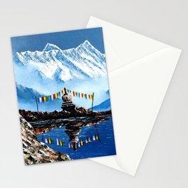 Panoramic View Of Annapurna Mountain Nepal Stationery Cards