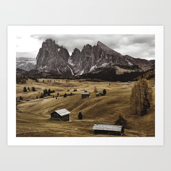 seiser alm landscape Kunstdrucke