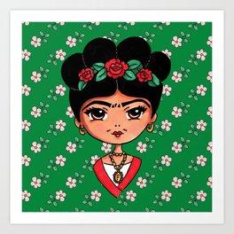 Frida Kahlo Cute and Famous Art Print