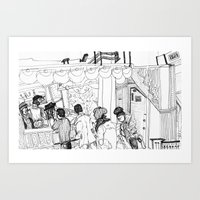 Part 1- Continuous Cafe Art Print