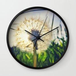 Dandelion Dreamin' Wall Clock