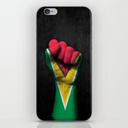 Guyanese Flag on a Raised Clenched Fist iPhone Skin