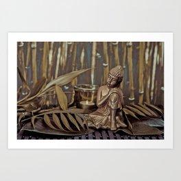 Golden Buddha Zen Still Life  Art Print