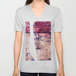 Pink landscape Unisex V-Neck