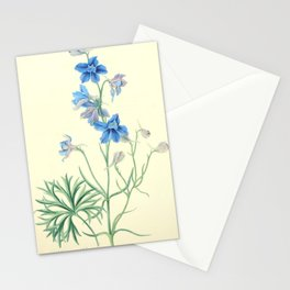 175. Roscoe, Margaret (1786-1840) - Floral Illustrations of the Seasons 1831 - Delphinium Grandiflor Stationery Cards