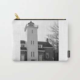 40 Mile Point Lighthouse BnW Carry-All Pouch