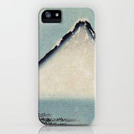 Hokusai, the blue fuji- hokusai,manga,japan,fuji, blue fuji,Shinto iPhone Case