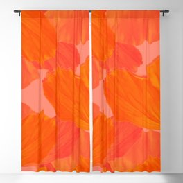 Beautiful Poppies Coral Color Background #decor #society6 #buyart Blackout Curtain