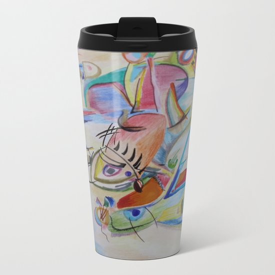 inspiration from Kandinsky Metal Travel Mug