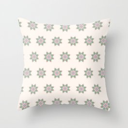 Blooming Florals in Beige Throw Pillow