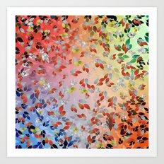 Teardrop Leaves Art Print