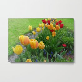 Tulipops Lollipops Metal Print
