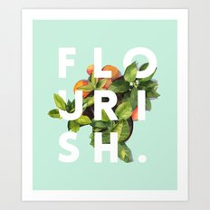 Flourish #society6 #buyart #typography #artprint Art Print