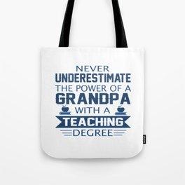 Grandpa Teacher Tote Bag