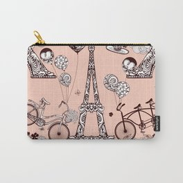 Funny Eiffel Tower Art Print Carry-All Pouch