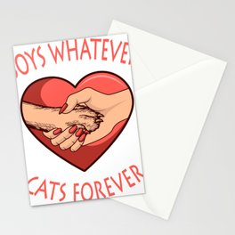 FUNNY CAT Boys Whatever Cats Forever Gift Stationery Cards