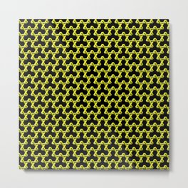 Impossible Yellow Triangles Metal Print