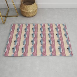 1950s Roadtrip And Pink Skies Rug
