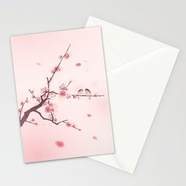 Oriental cherry blossom in spring 005 Stationery Cards