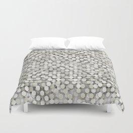 Hexagonal beige background Duvet Cover