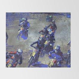 Lets Race!  - Motocross Racers Throw Blanket