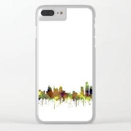 Detroit, Michigan Skyline SG - Spring Buff Clear iPhone Case