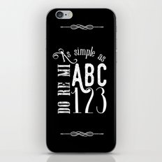 As simple as (B&W) iPhone & iPod Skin