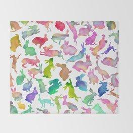 Watercolour Bunnies Throw Blanket