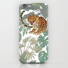 Leopards in the jungle pattern. iPhone Case