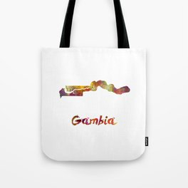 Gambia  in watercolor Tote Bag